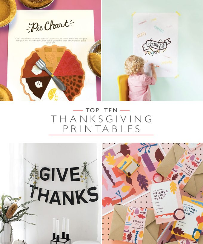 Top 10 Thanksgiving Printables | Squirrelly Minds