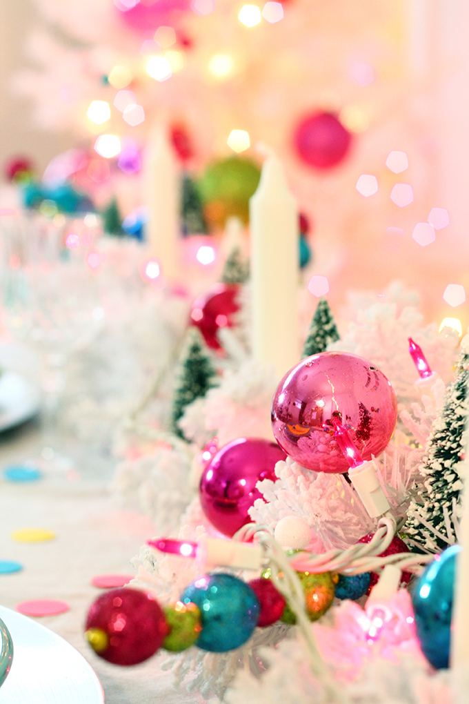 Colourful Christmas Tablescape and Free Banner Download | Squirrelly Minds