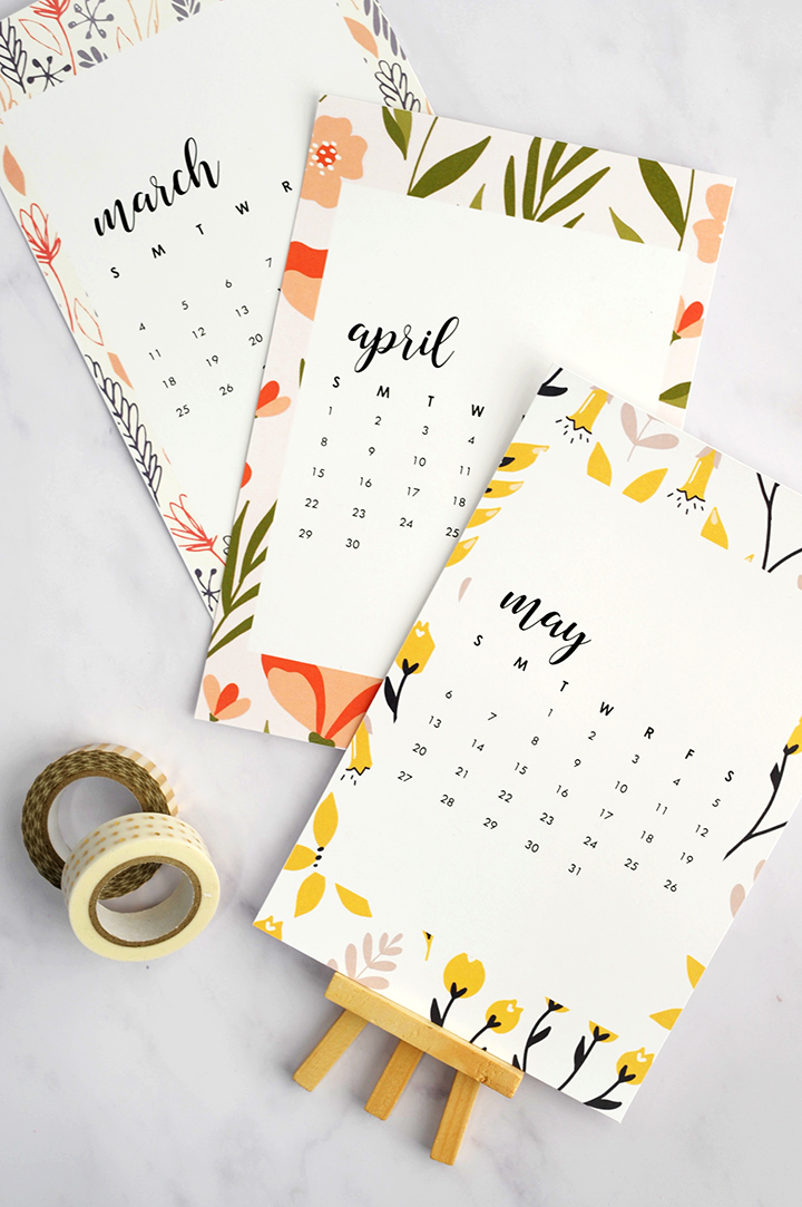 40+ Free Printable 2018 Calendars | Squirrelly Minds - Photo by Alice and Lois