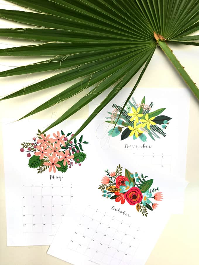 40+ Free Printable 2018 Calendars | Squirrelly Minds - Photo by