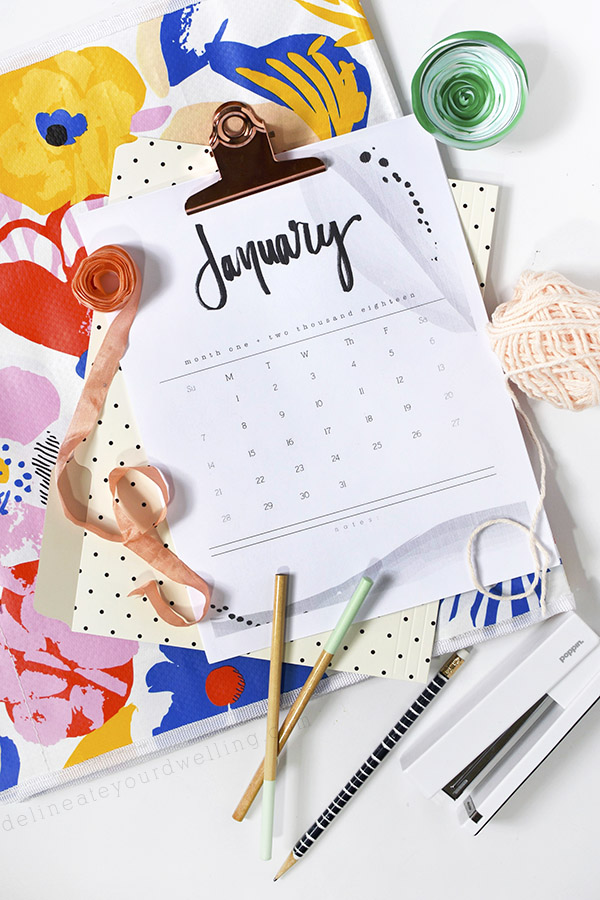 40+ Free Printable 2018 Calendars | Squirrelly Minds - Photo by Delineate Your Dwelling