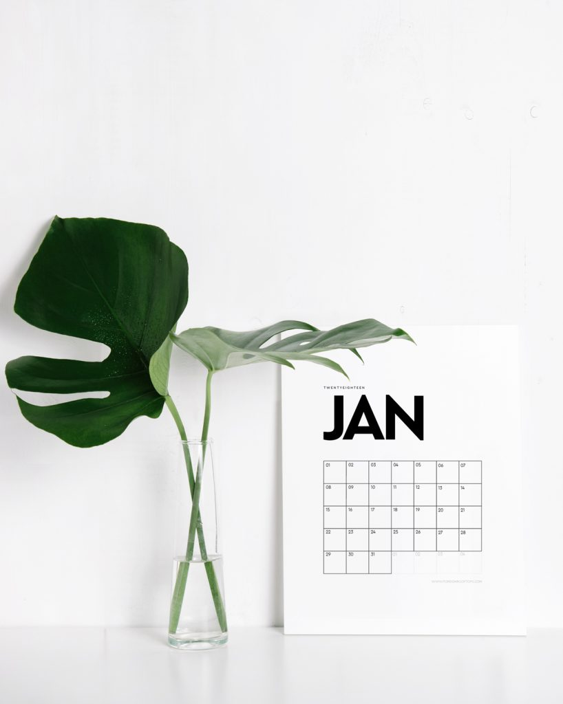 40+ Free Printable 2018 Calendars | Squirrelly Minds - Photo by Foreign Rooftops