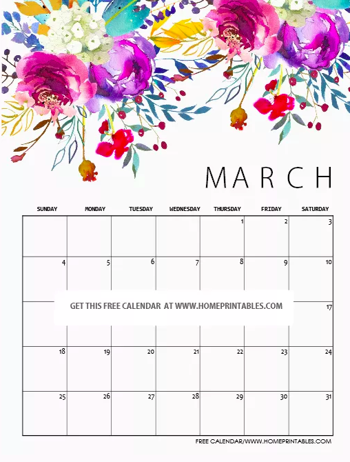 40+ Free Printable 2018 Calendars | Squirrelly Minds - Photo by Home Printables