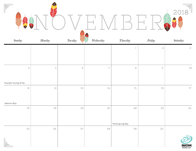 40+ Free Printable 2018 Calendars | Squirrelly Minds - Photo by iMom