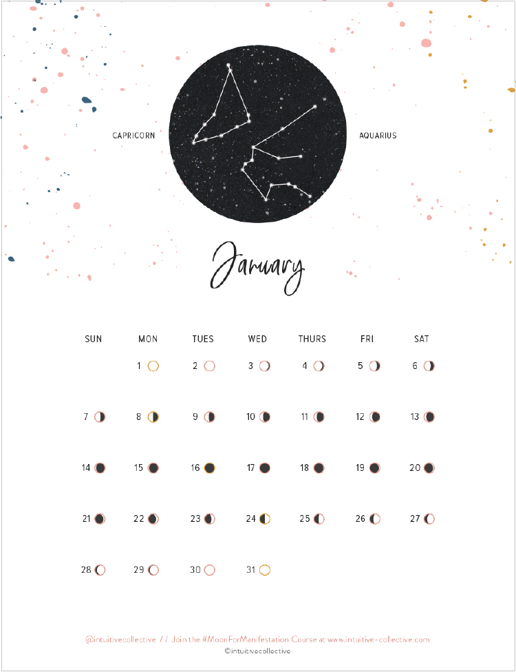 40+ Free Printable 2018 Calendars | Squirrelly Minds - Photo by Intuitive Collective