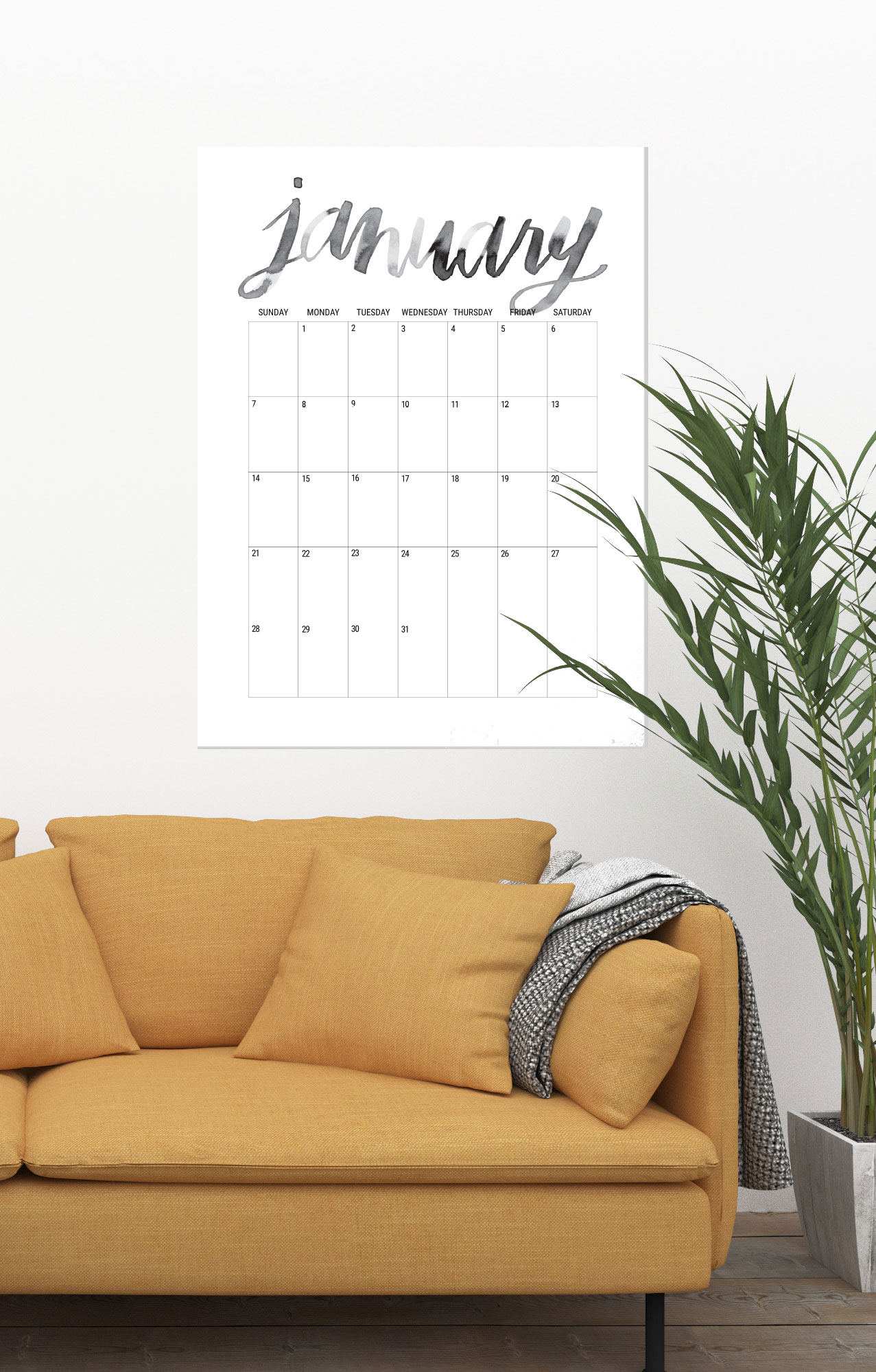 40+ Free Printable 2018 Calendars | Squirrelly Minds - Photo by Shrimp Salad Circus
