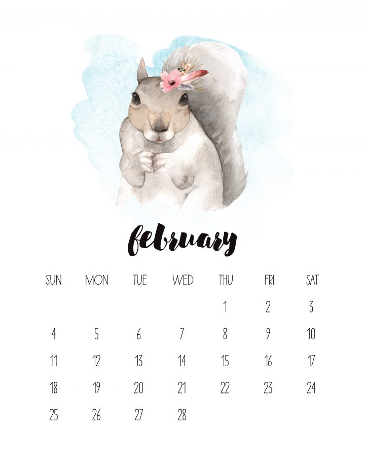 40+ Free Printable 2018 Calendars | Squirrelly Minds - Photo by The Cottage Market