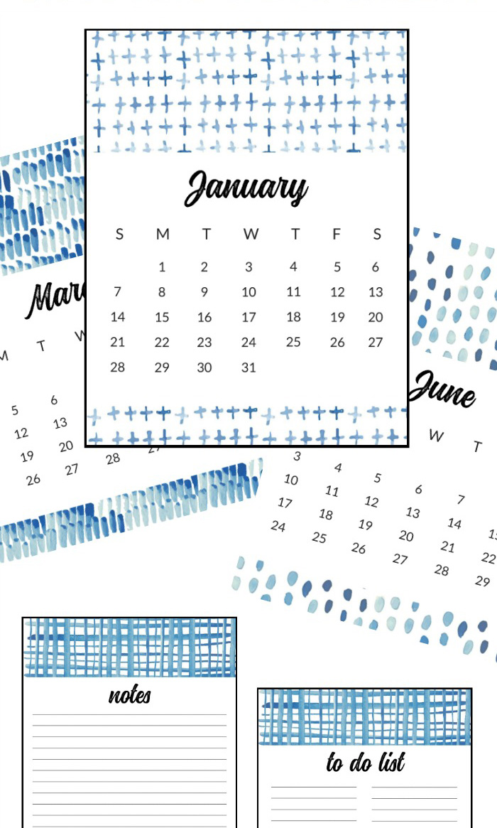 40+ Free Printable 2018 Calendars | Squirrelly Minds - Photo by The Crazy Craft Lady