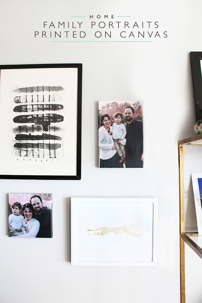 Family Portraits Printed on Canvas