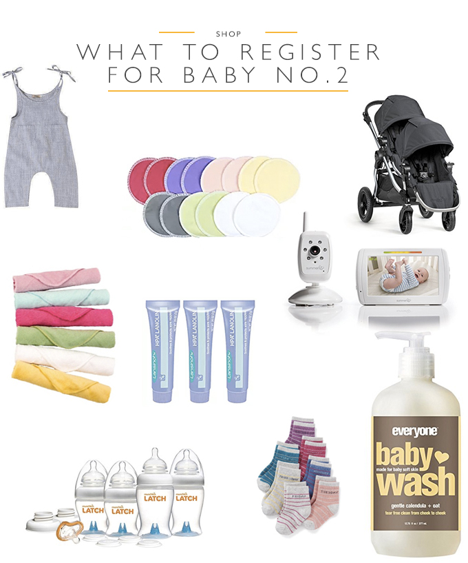 What to register for baby number 2 | Squirrelly Minds
