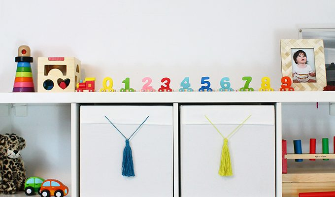 IKEA Hack Drona Boxes with Tassels