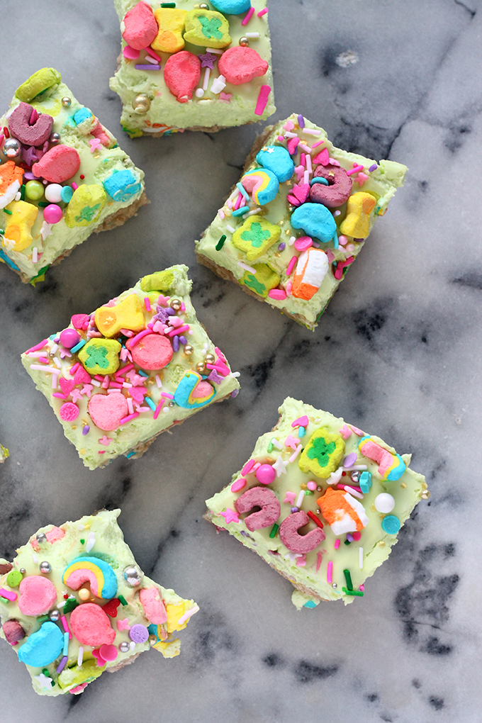 no bake lucky charms cheesecake bars squirrelly minds
