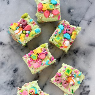No Bake Lucky Charms Cheesecake Bars