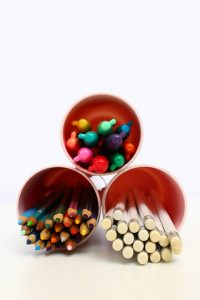 DIY Recycled Glass Pencil Holder | Squirrelly Minds
