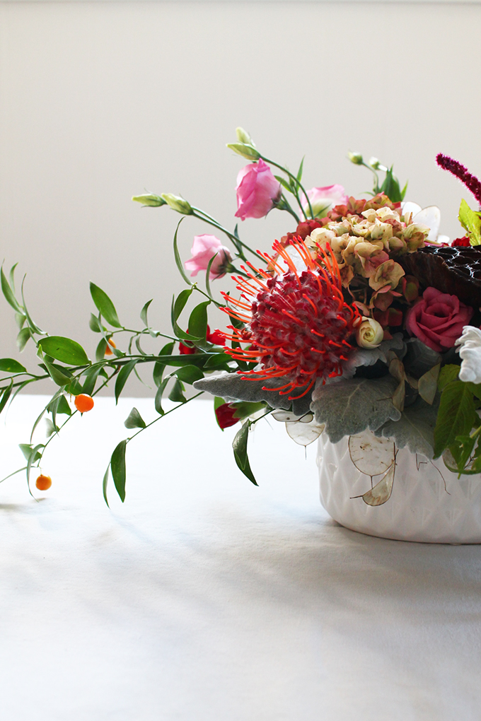 How to Create a Halloween Inspired Floral Arrangement | Squirrelly Minds
