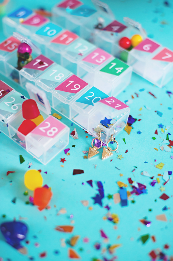 Top 10 Colourful DIY Advent Calendars - Image by A Subtle Revelry on Squirrelly Minds