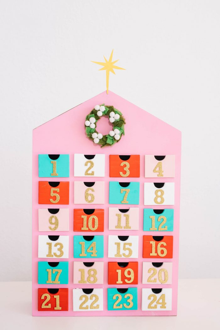 Top 10 Colourful DIY Advent Calendars - Image by Best Friends for Frosting on Squirrelly Minds