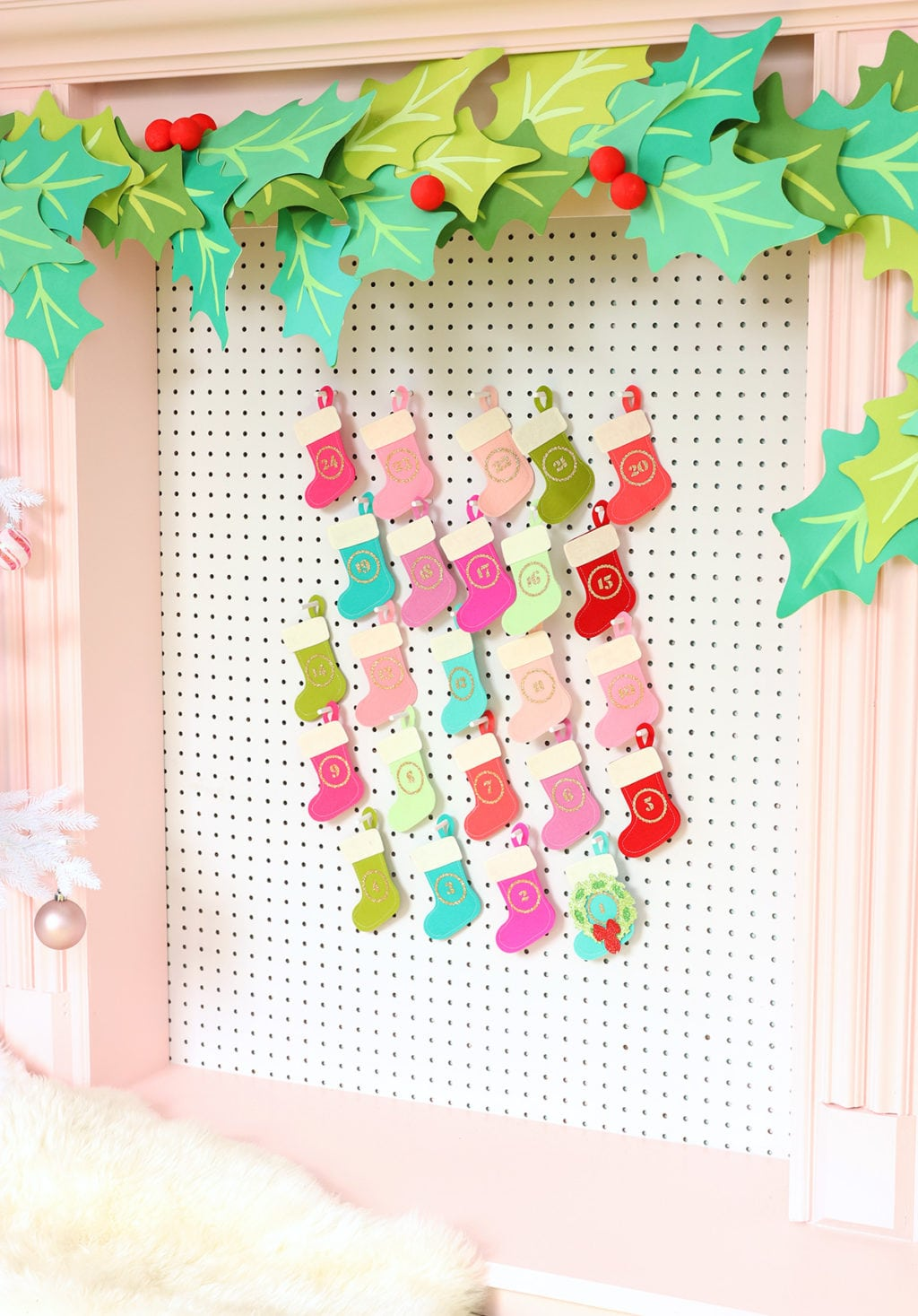 Top 10 Colourful DIY Advent Calendars - Image by Damask Love on Squirrelly Minds