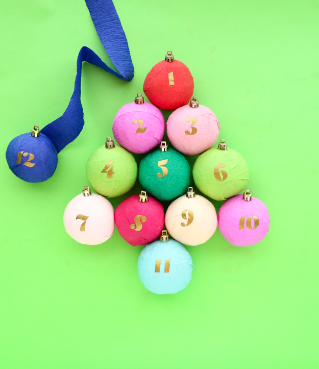 Top 10 Colourful DIY Advent Calendars - Image by Kailo Chic on Squirrelly Minds