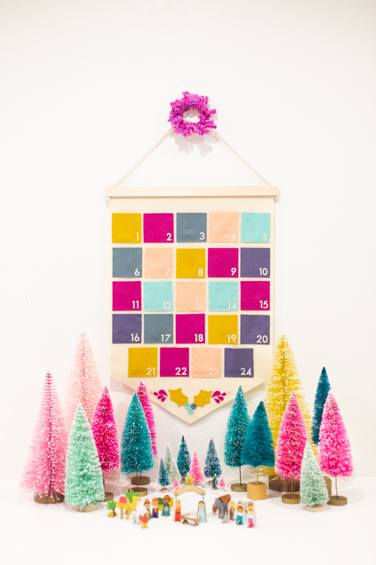Top 10 Colourful DIY Advent Calendars - Image by Lovely Indeed on Squirrelly Minds