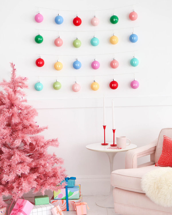 Top 10 Colourful DIY Advent Calendars - Image by Oh Happy Day on Squirrelly Minds