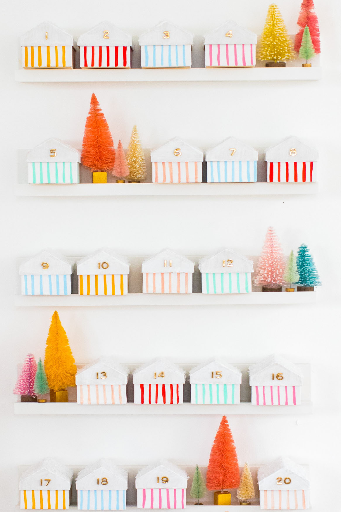 Top 10 Colourful DIY Advent Calendars - Image by Sugar and Cloth on Squirrelly Minds