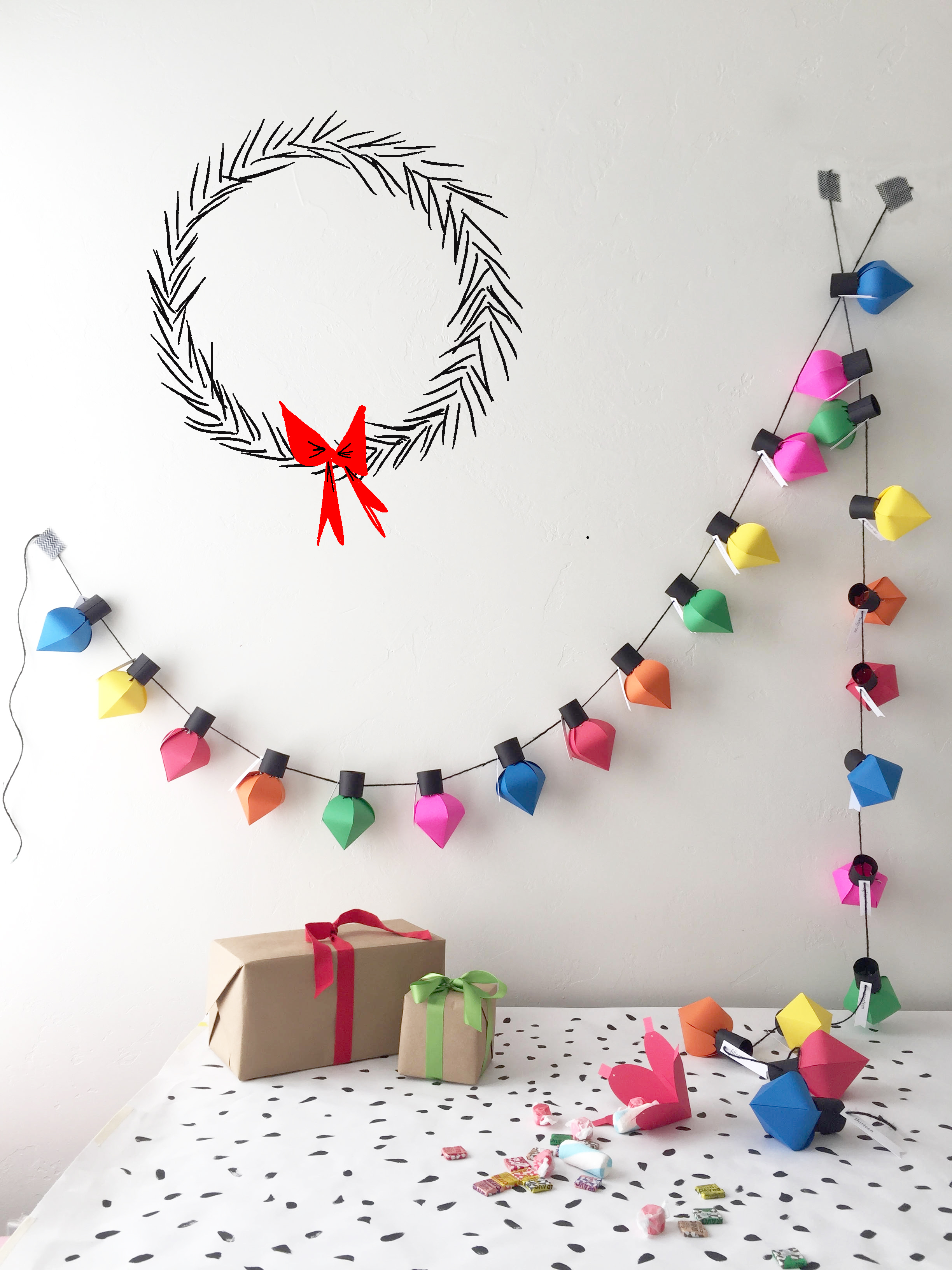 Top 10 Colourful DIY Advent Calendars - Image by The House That Lars Built on Squirrelly Minds