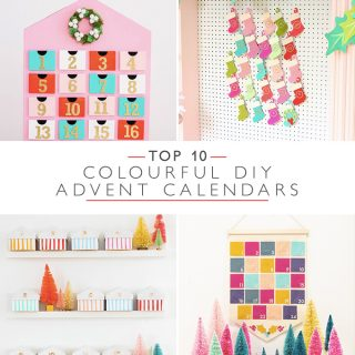 Top 10 Colourful DIY Advent Calendars