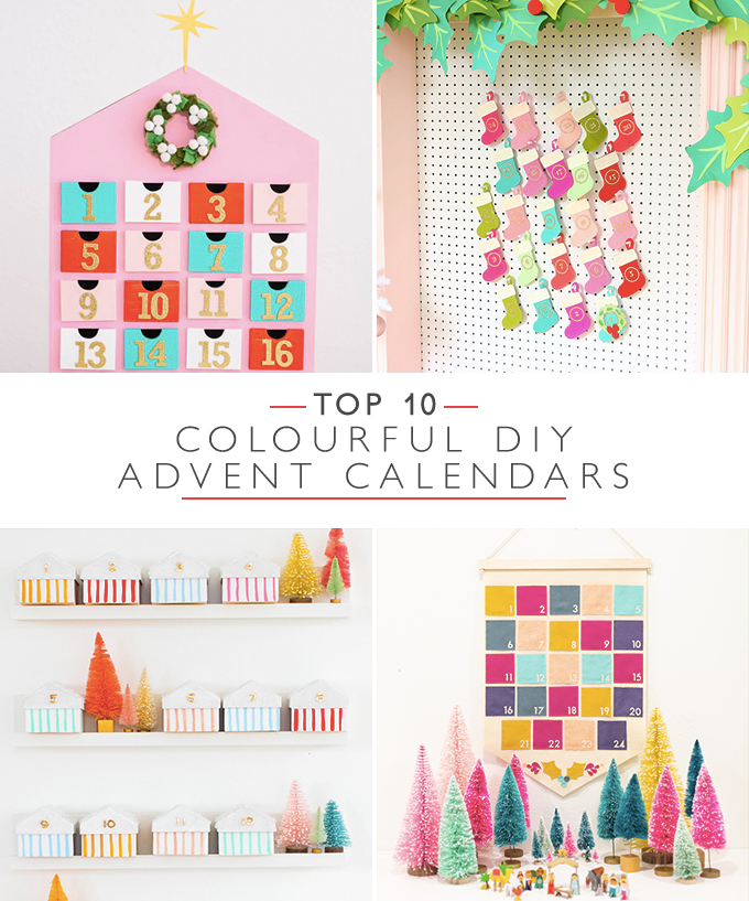 Top 10 Colourful DIY Advent Calendars | Squirrelly Minds