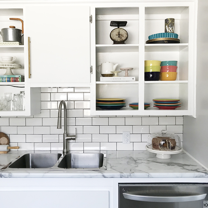 Grey and White Kitchen Makeover | Squirrelly Minds