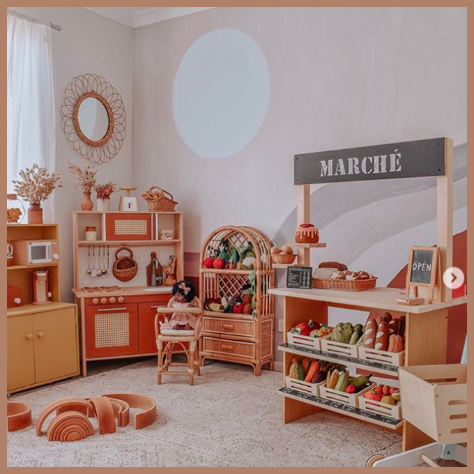 natural tones play room