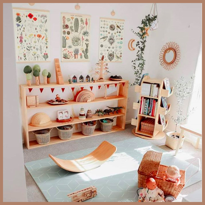 natural and colourful playroom