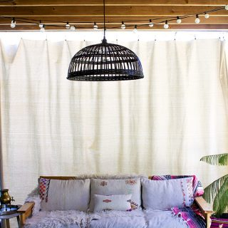 DIY privacy curtain on a budget