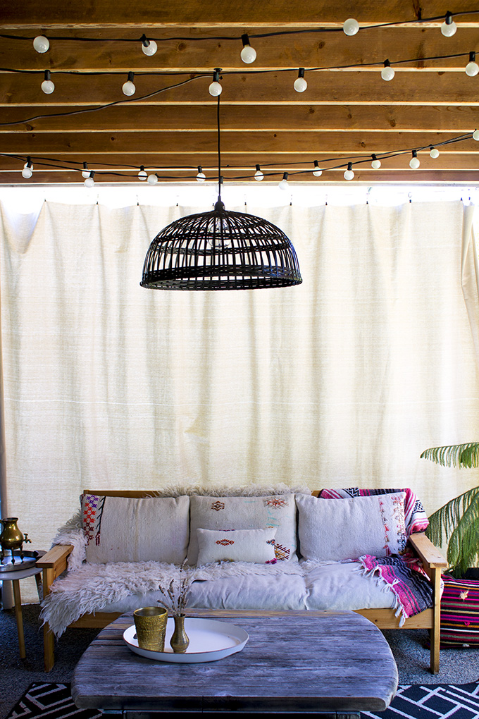 DIY privacy curtain on a budget | Squirrelly Minds