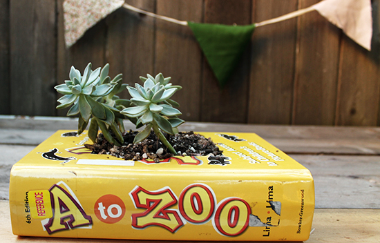 DIY Book Planter | Squirrelly Minds