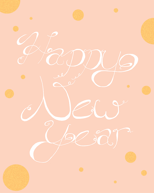 Printable Happy New Year Poster | Squirrelly Minds