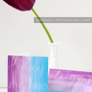 Print/Holiday | Free Printable Mother's Day Card