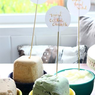 Eat/Entertain | Ice Cream Party & Lemon Basil Sorbet Recipe