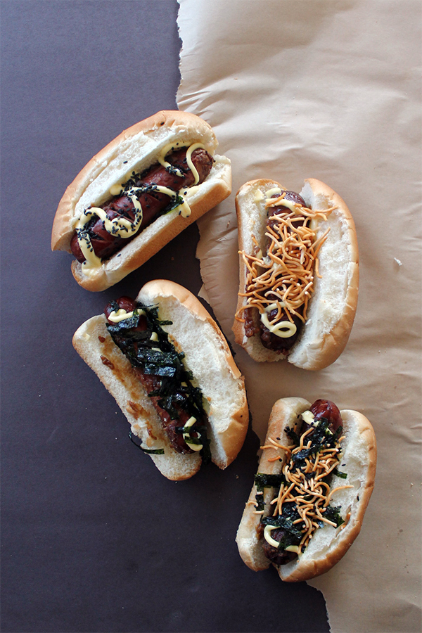 Miso Glazed Hot Dogs | Squirrelly Minds