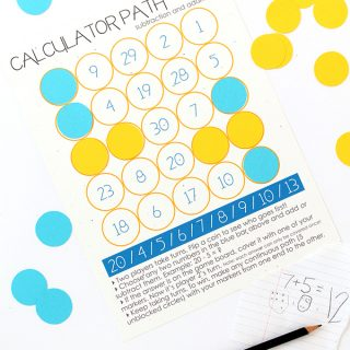 Print | Back to School Series and a Free Math Game Printable