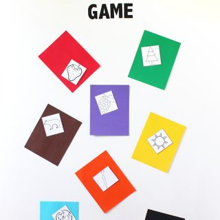 Print | Printable Color Game for ESL/early learners plus a giveaway with Astrobrights