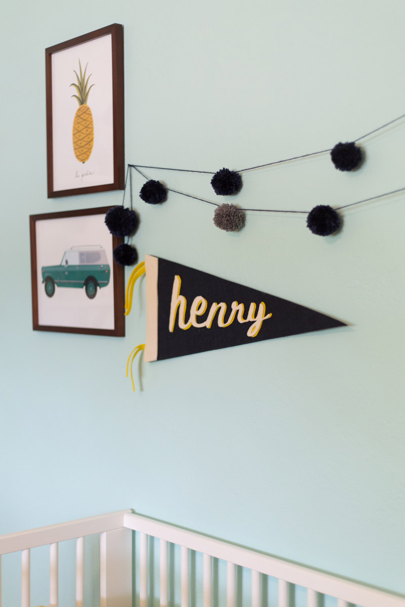 DIY pompom garland by Lovely Indeed on Squirrelly Minds