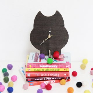 DIY Wooden Animal Stand Clock