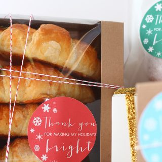 Print | Printable Holiday Thank You Labels + Giveaway