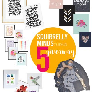 Squirrelly Minds turns 5 Giveaway!