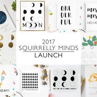 2017 Launch at the Squirrelly Minds Paper Shop! Free Shipping this weekend.