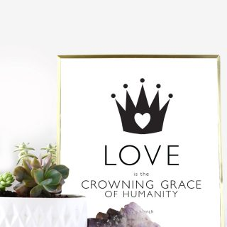 Printable Love Quote Poster 'Crowning Grace'