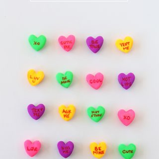 How to make DIY conversation heart erasers