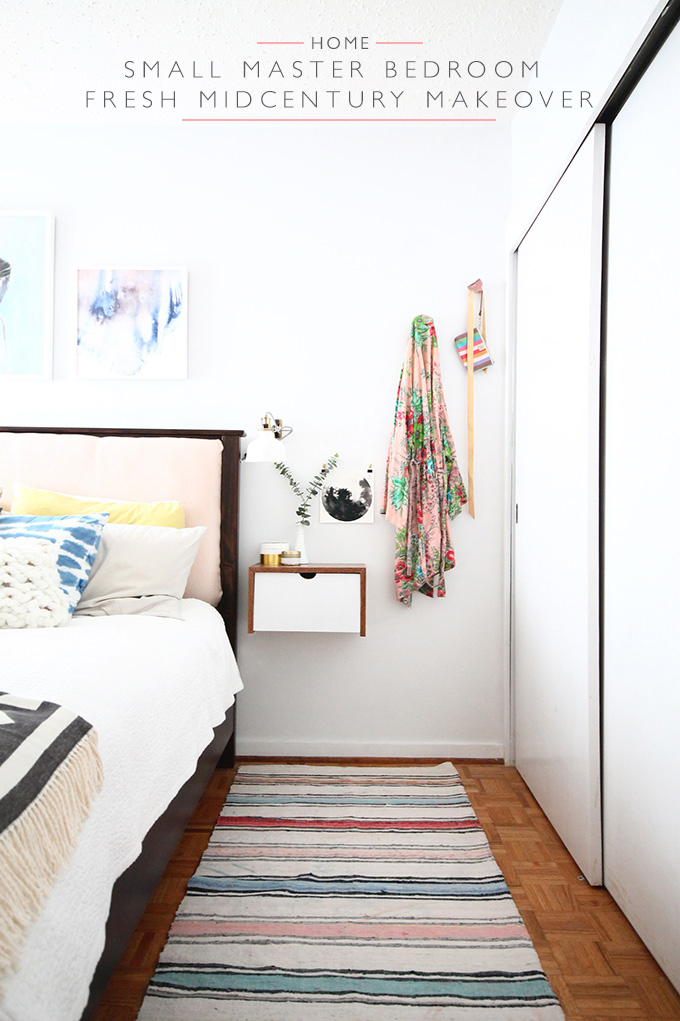 Small Master Bedroom Fresh Midcentury Makeover - before and after | Sqiuirrelly Minds