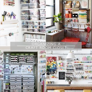 Organizing a Craft Room Closet